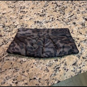 Lauren Merkin Louise Leopard silk clutch